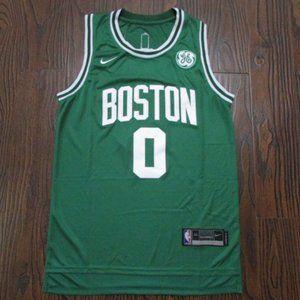Boston Celtics #0 Jayson Tatum City Green Jersey